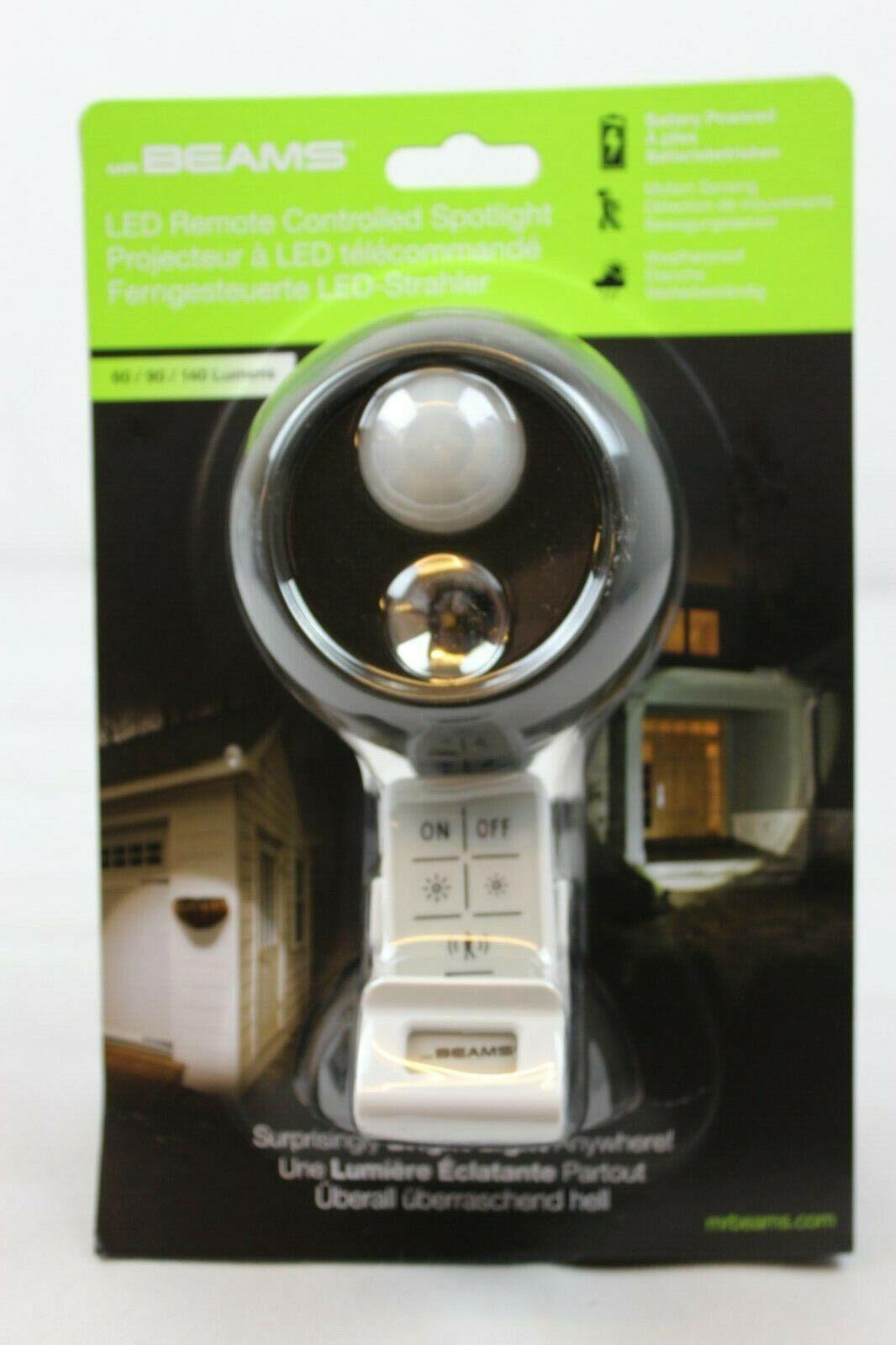 Mr Beams Wireless Bewegungsmelder LED-Scheinwerfer mit Fernbedienung MB371 NEU