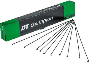 2-x-DT-Swiss-Champion-Spokes-BLACK-Nipples-Custom-Cut-150-314mm