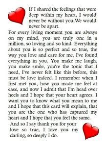One I Love Husband Wife Boyfriend Girlfriend Partner Birthday Valentine Day Card