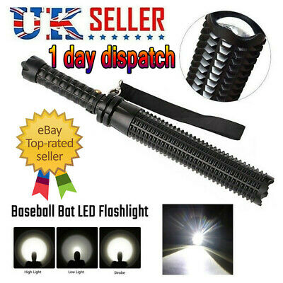 Black Baseball Bat LED Flashlight Q5 Cree Waterproof Security Super Bright Torch