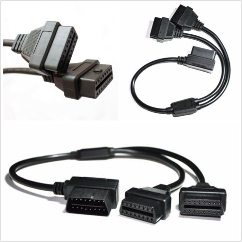 50cm Car OBD2 16Pin Y Splitter Male To Female Extension Cable For Diagnostic Kit