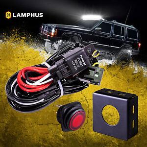 40 amp off road atv jeep led light bar wiring harness relay on off rh ebay com