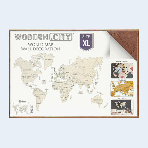 COLOURED WORLD MAPS WOODEN CITY puzzles Puzzles & Geduldspiele