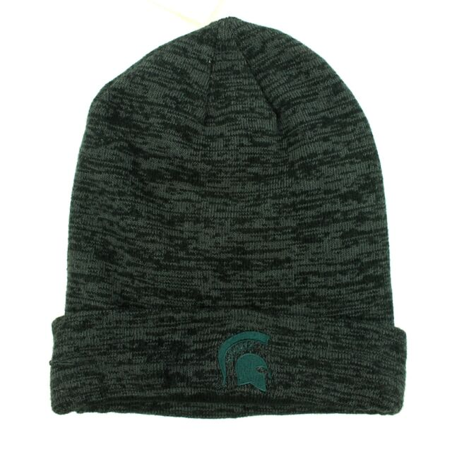 College NEW Adult Michigan State Spartans Skull Knit Beanie Hat with Pom Top