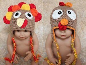 New-Cotton-Handmade-Turkey-Baby-Knit-Crochet-Hat-Newborn-Photo-Prop-0-5Year-Gift