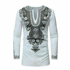 African-Tribal-Shirt-Men-Dashiki-Print-Hippie-Top-Blouse-Casual-Shirts-Popular