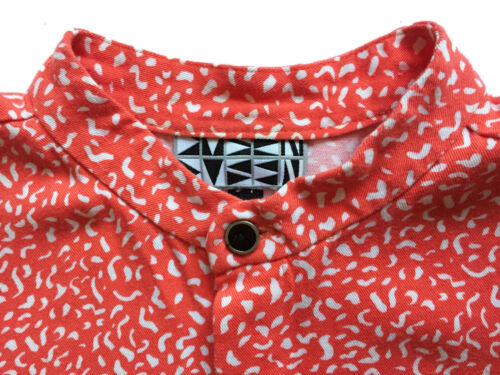 DUSEN DUSEN XS Oversized Tee Dress Orange Composit