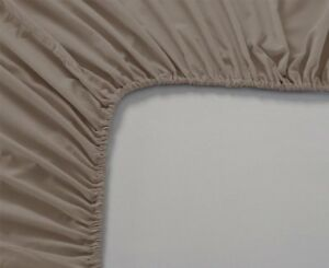Taupe-solid-1pc-Fitted-Sheet-Soft-100-Cotton-1000Thread-Count-All-US-Size