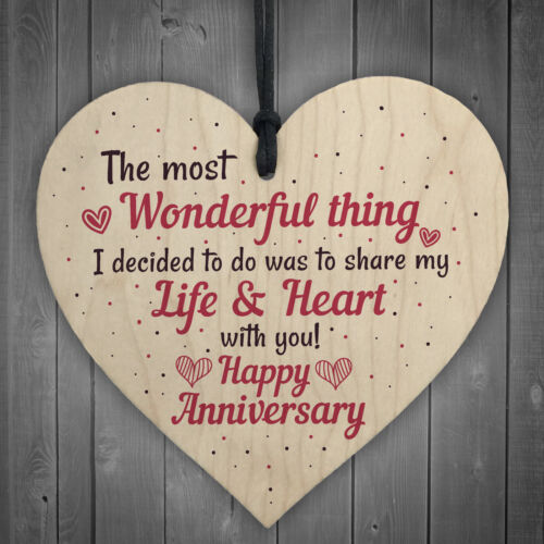 Gifts For Her Wedding Anniversary Card Gifts For Wife Heart Husband Card For Him