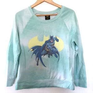 0a4db24da Batman DC Womens Medium Pastel Seafoam Green Tie Dye Sweatshirt ...