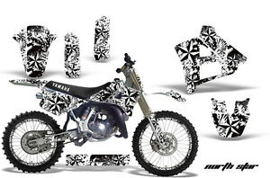 Graphics-Kit-Decal-Sticker-Wrap-Plates-For-Yamaha-YZ125-1991-1992-NSTAR-WHT