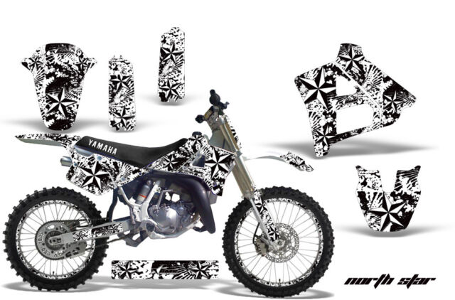 Graphics Kit Decal Sticker Wrap + # Plates For Yamaha YZ125 1991-1992 NSTAR WHT