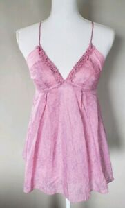 REBECCA-TAYLOR-women-039-s-Pink-Silk-Floral-Print-Sleeveless-Top-Size-2