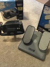 Flight Sim Yoke & Pro Pedals USB Simulator Training Flying Pilot Controller Set