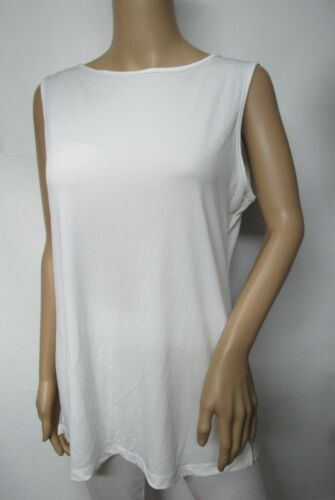 Womens Stretch Knit Scoop Neck Summer Sleeveless Tank Top Size S~3X