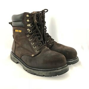 66016b941a9 Details about Brahma Iron Tough steel toed boots size 9.5 Brown SH193
