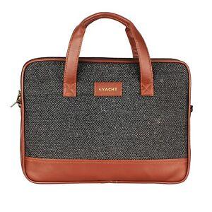 Yacht 14 Inch Vegan Leather Shoulder Sling Laptop Messenger Bag For Unisex