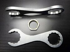 """Stainless Steel Reloading die wrench for press using Dillon 1"""" hex lock rings"""