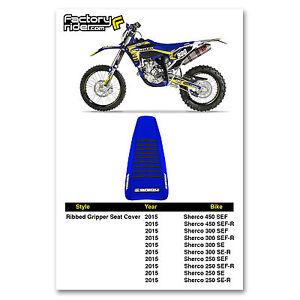 Husqvarna TC FC Gripper Seat Cover 2009-2015 Black Neon Ribbed Motocross