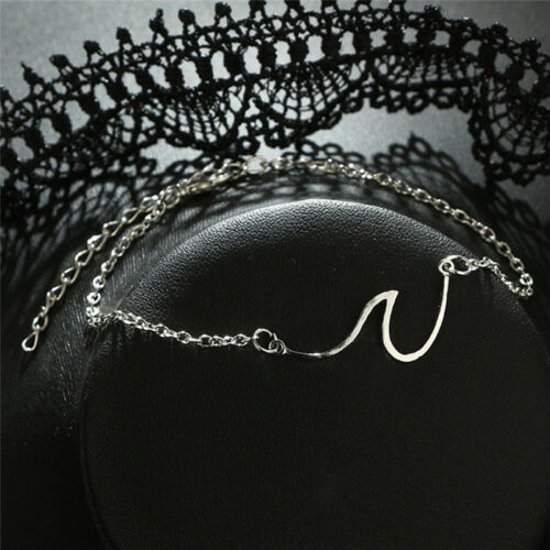 Simple Wave Chain Anklet Ankle Bracelet Barefoot Sandal Beach Foot JewelryFEH