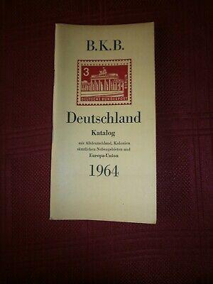 B.k.b. Briefmarken Katalog Deutschland 1964 -
