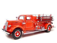 1938 Mack Type 75 Fire Engine Truck Red W/accessories 1:24 Road Signature 20158