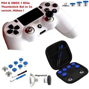 PS4-amp-XBOX-ONE-Elite-Thumbsticks-Set-Magnetisch-austauschbar-3-versch-Hoehen