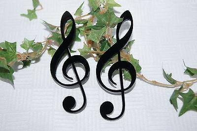 Notenschlüssel Violinschlüssel Tischdeko Dekoration Musik Noten Acryl schwarz 2