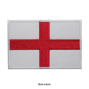 England National Flag Embroidered Patch Iron on Sew On Badge For Clothes etc