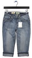 Earl Jean Sz 6p $48 Embellished Cropped Denim Long Shorts Capris 16 Inseam