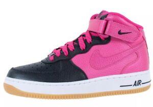 026a3f2a3199 Nike  85 AIR FORCE 1 MID Grade School Black Vivid Pink (518218 016 ...