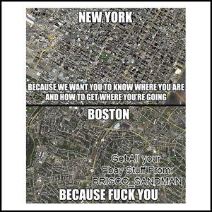Fridge Fun Refrigerator Magnet NEW YORK BOSTON FCK YOU