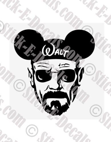 Breaking Bad Disney Walt Mash Up Vinyl Decal Sticker FREE USA SHIPPING