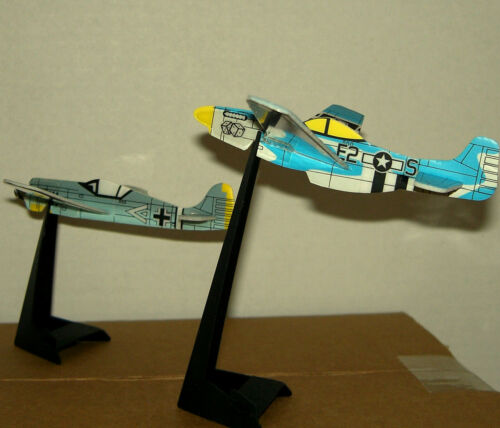 WW II Inspired FIGHTER PLANES TOY Figure CAKE TOPPER FIGURINE w// Stand Lot #1