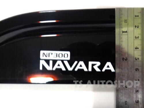 4DR WEATHER GUARDS VISOR WINDSHIELD FOR NISSAN NAVARA NP300 2015 TRUCK V.2