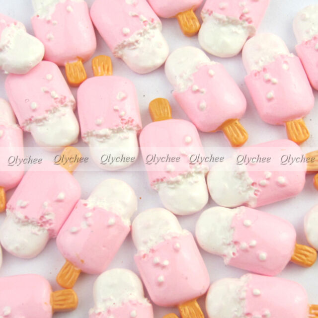 DIY New Cabochons Crafts Strawberry Ice Cream Resin Flatback Scrapbooking  Cute