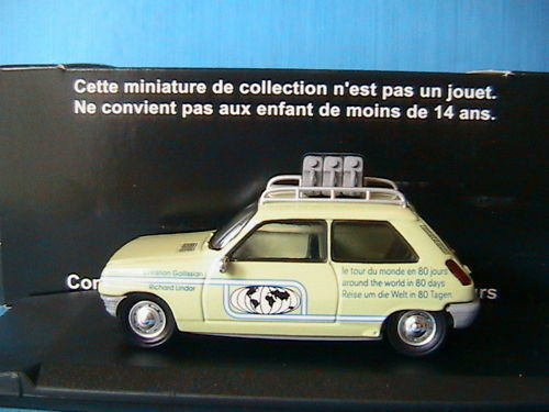 RENAULT 5 TOUR DU MONDE MONDE MONDE ELIGOR V4911 1 43 MADE IN FRANCE R5 VEHICULE MINNIATURE ad17b9