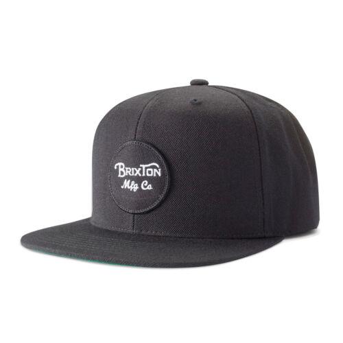 Black Brixton Snapback Cap Wheeler