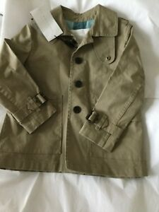 4f8d782309cf NEW Burberry Farrow Toddler Boys Trench Coat - 3Y