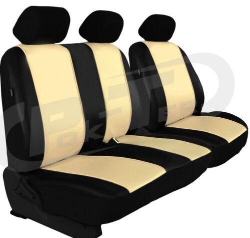 Sitzbezüge 1+2 für VW Transporter T5 Kunstleder hier in BEIGE.