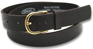 """Ossi Womens Kids Real Leather Embossed Belt For Boys Girls Gift Brown 32""""-36"""""""
