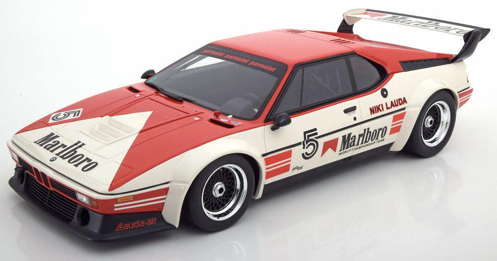 CMR 1979 BMW M1 Pro voiture  Champion Lauda  5 w Marlbor SUPER grand voiture 1 12nouveau  profitez d'une réduction de 30 à 50%