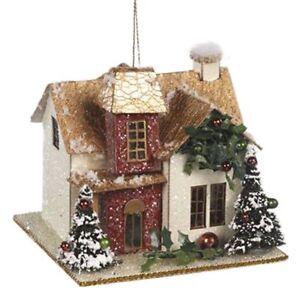 Casa-de-Navidad-9x8x8cm-Katherine-039-s-Coleccion-Decoracion-de-Navidad