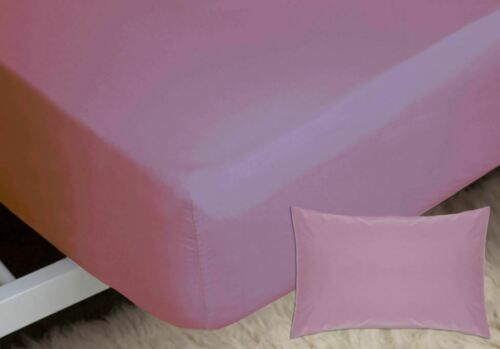"200 Thread Count Housewife Pillowcase Set Belledorm 11/"" Percale Fitted Sheet"