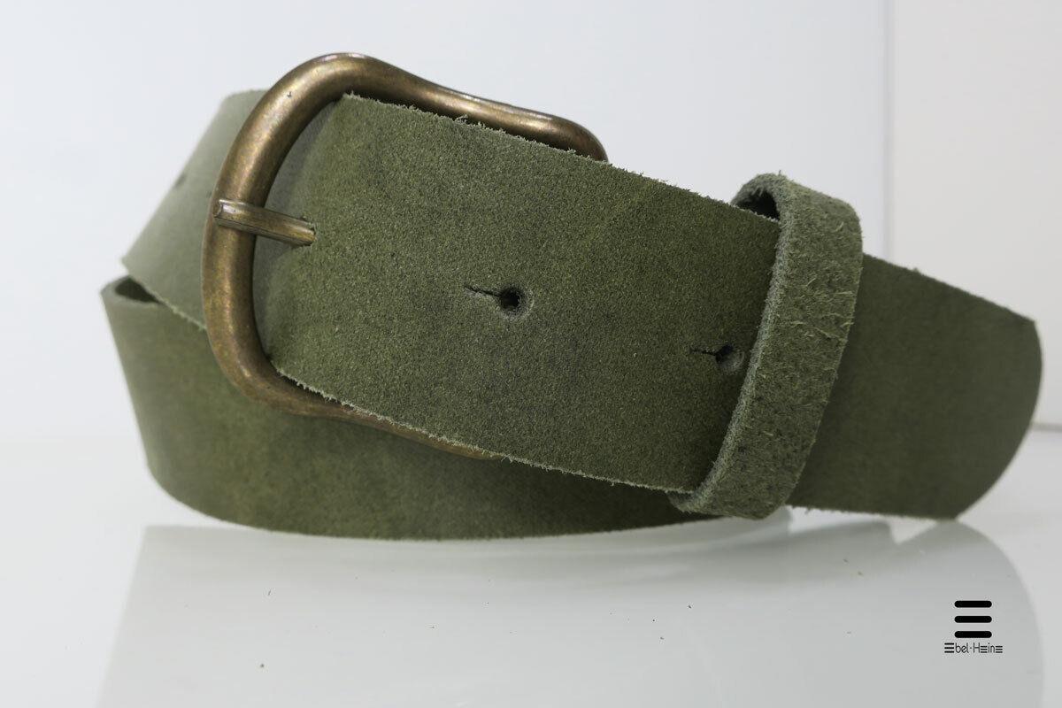 Ledergürtel oliv - Echt Leder - Jeansgürtel, sportlich modern