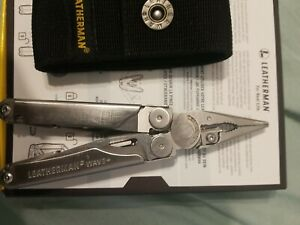 LEATHERMAN WAVE+ PLUS FOLDING MULTI PLIERS TOOLS KNIFE POCKET TACTICAL SURVIVAL