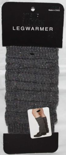 Steve Madden Women/'s Dark Gray Speckled Knit Leg Warmers Boot Toppers Sz OS **