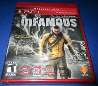 Infamous Sony Playstation 3, Ps3 Factory Sealed Free Shipping