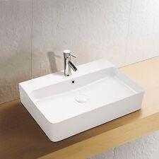 Wand Hänge Keramik Waschbecken Soho dünner Rand 60x42 cm Waschtisch Aufsatz