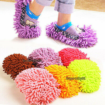 Lazy Dusting Cleaning Foot Cleaner Shoe Mop Slipper Floor Polishing Cover new et